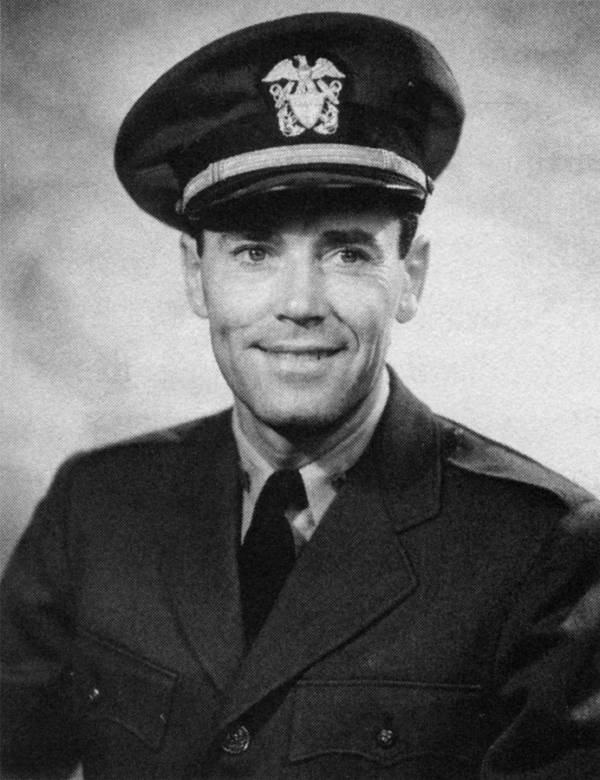 Henry Fonda in his U.S. navy uniform