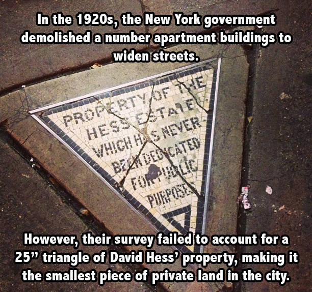 Hess Triangle New York Facts