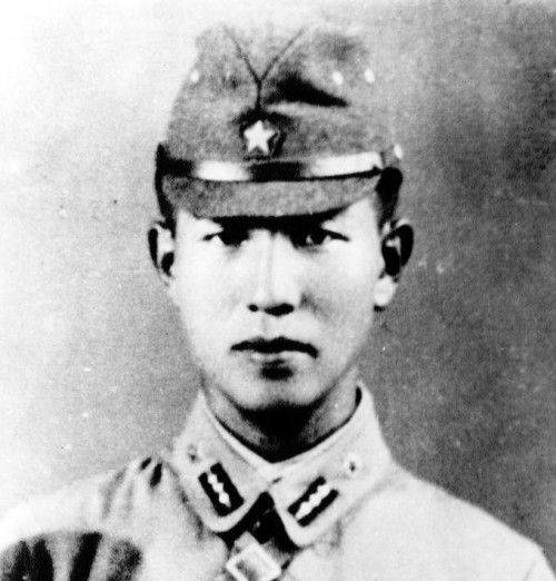 Hiroo Onoda as a young officer