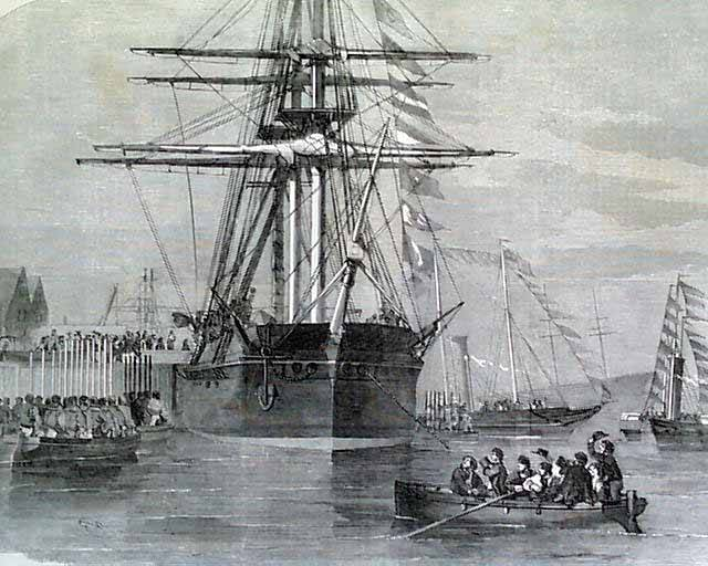 Drawing of the Hms Resolute