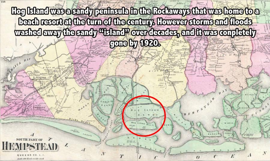 Map of Hog Island