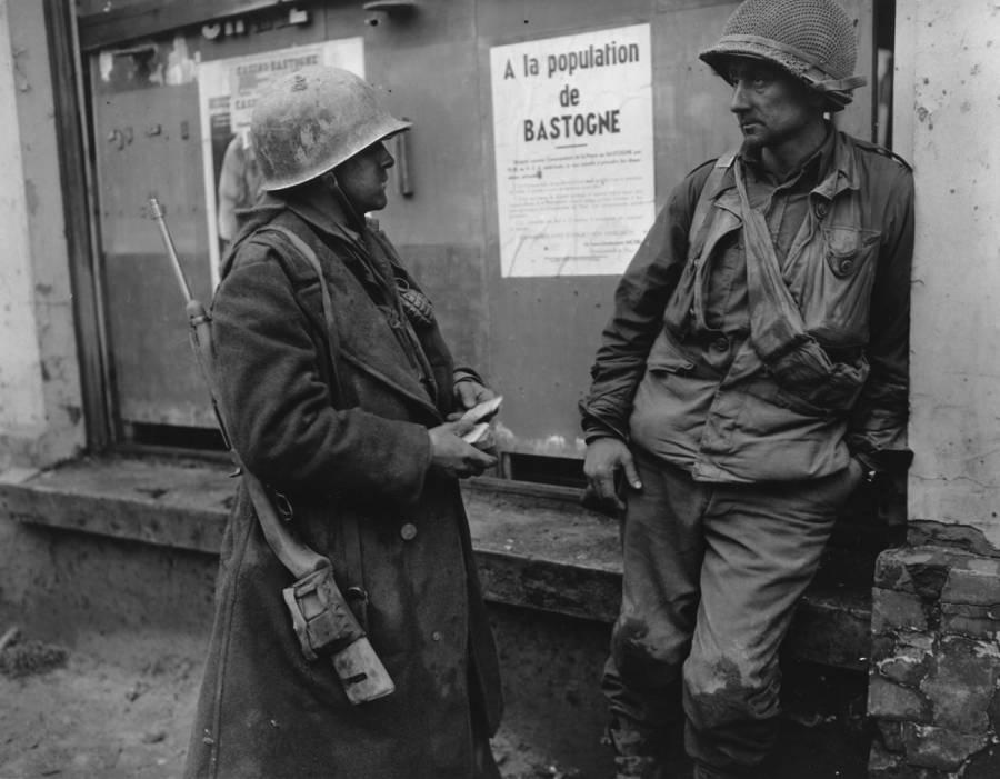 U.S. infantry men in Belgium