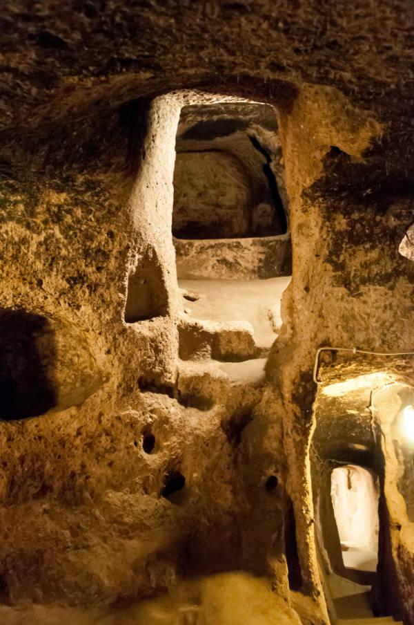 Inside Derinkuyu the underground city
