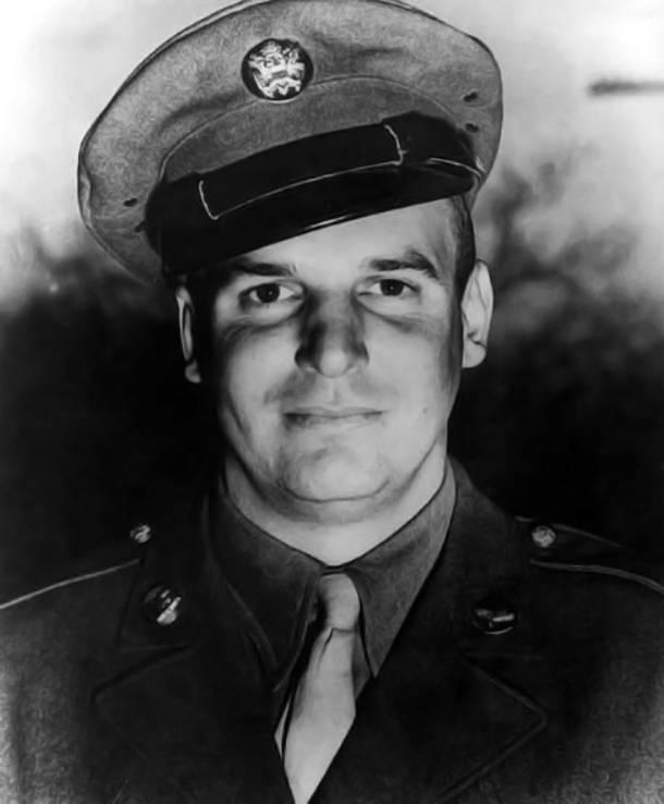 Jackie Coogan in his U.S. army uniform