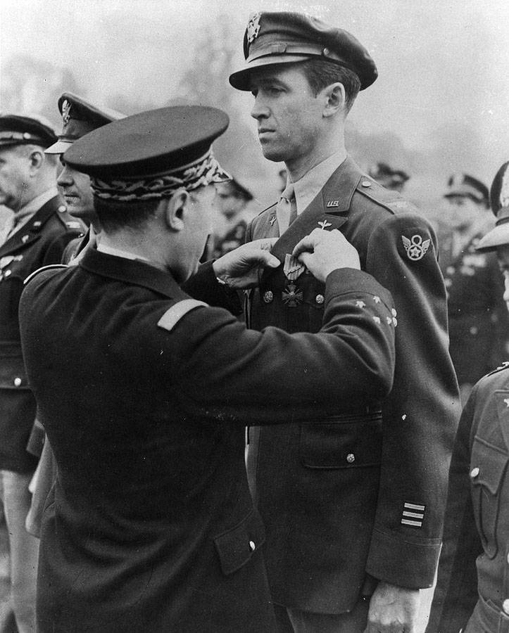 James Stewart in his WWII uniform