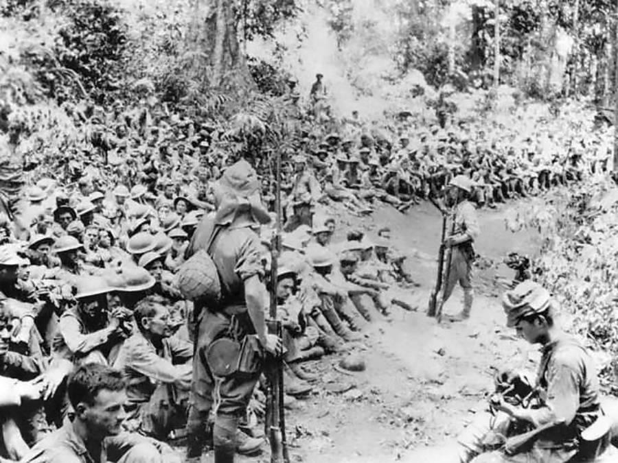 Japanese Guarding Prisoners