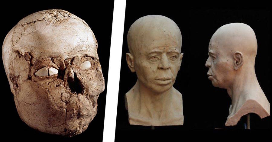 Ancient skull and 3d face