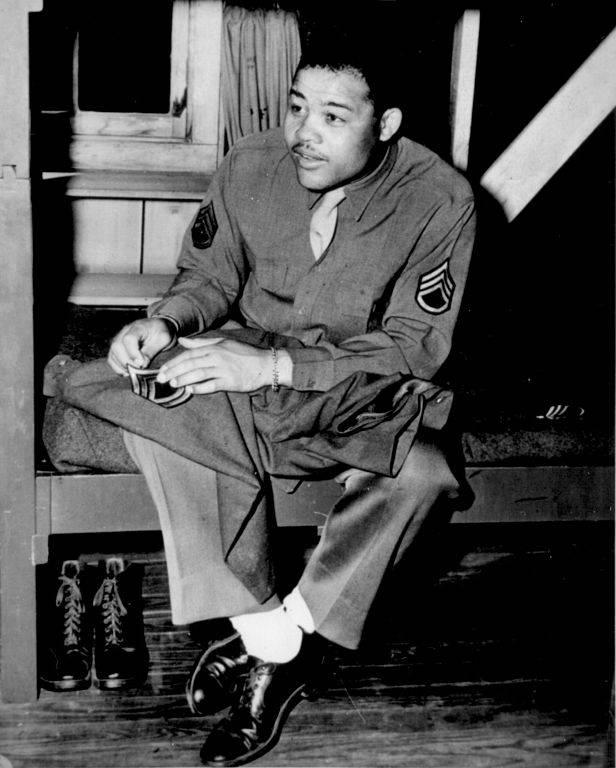 Joe Louis in his WWII uniform
