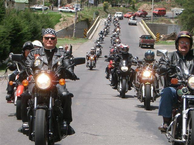 Dan Johnson riding a motorcycle