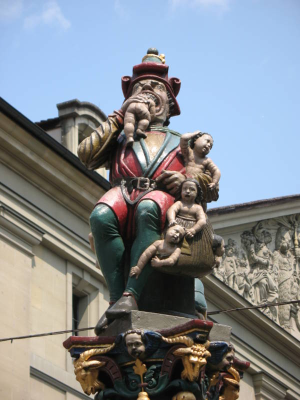 Kindlifresserbrunnen Statue And Surroundings