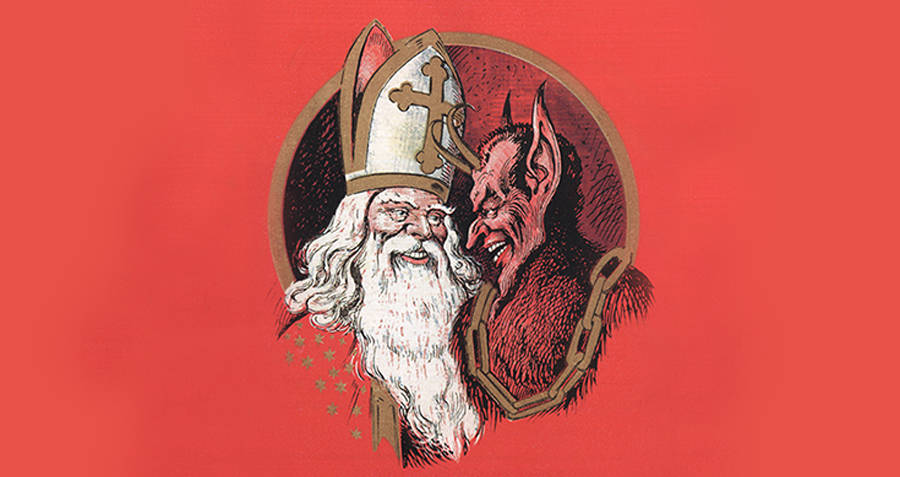Krampus And St. Nicholas