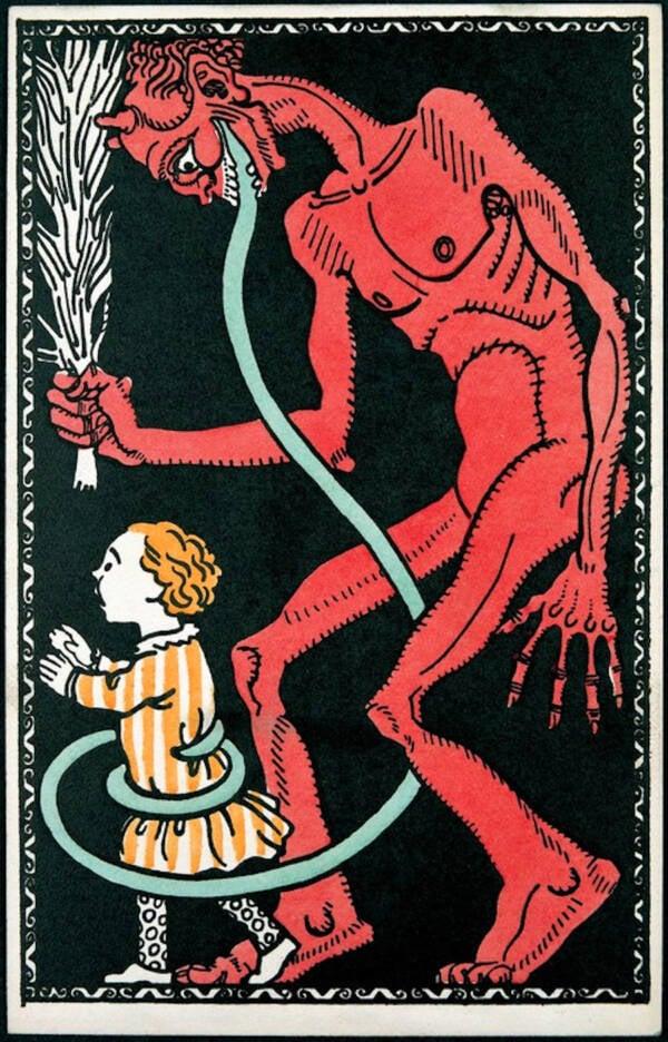 Krampus With A Child