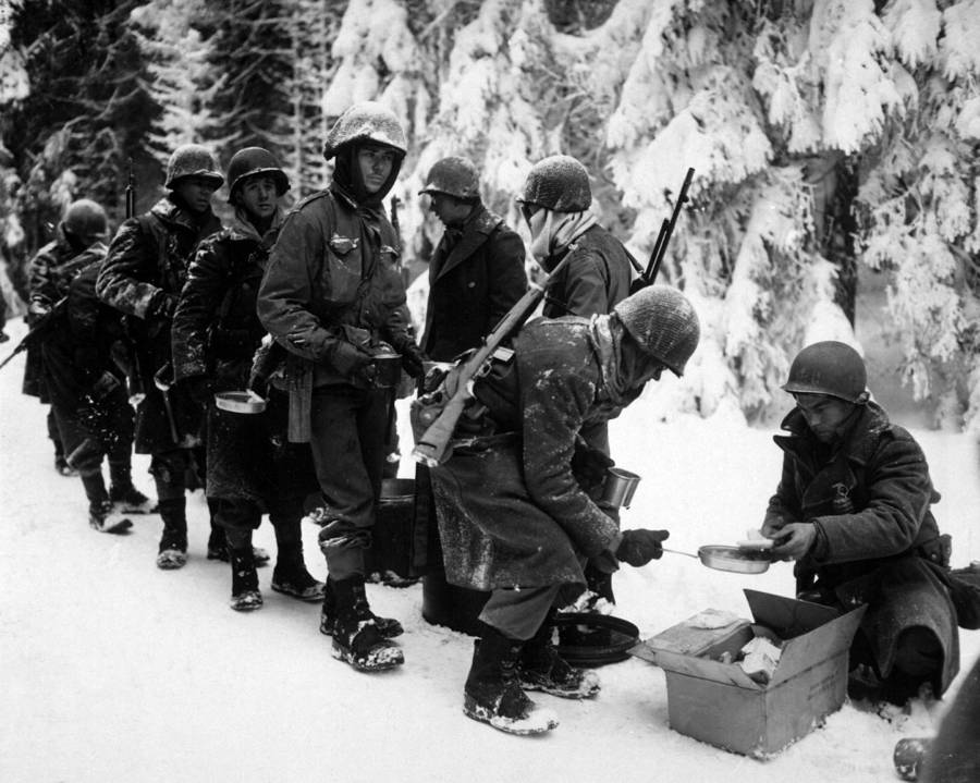 Rations handed our during the Battle of the Bulge