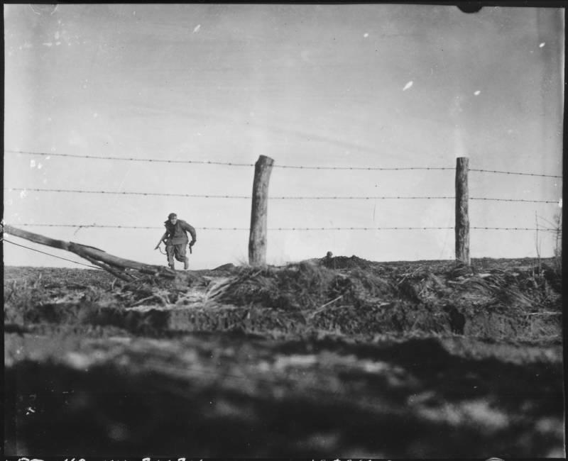 Lone infantryman during WWII