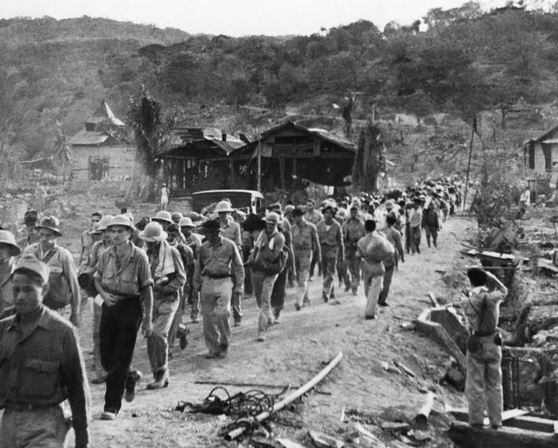 Marching Near Village