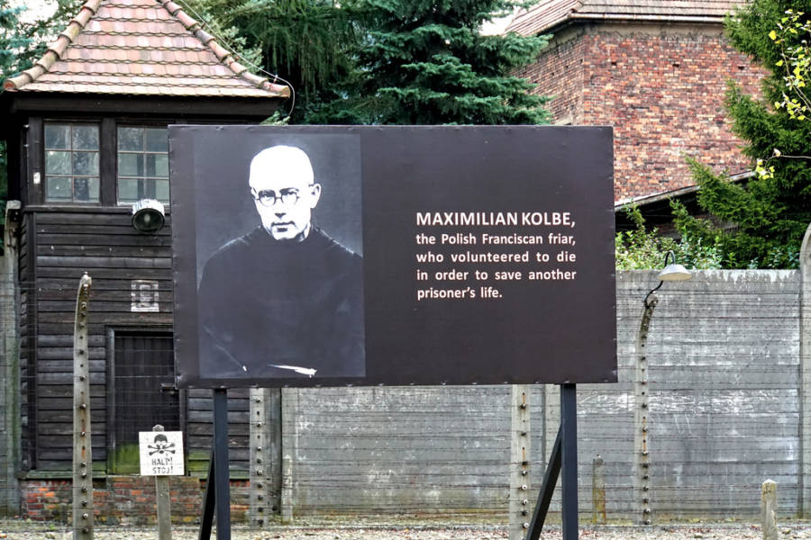 Maximilian Kolbe Memorial At Auschwitz