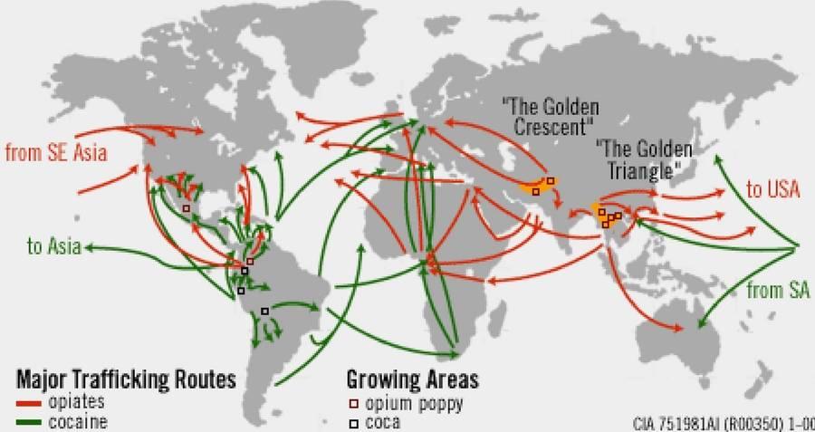Medellin Cartel Drug Trafficking Routes