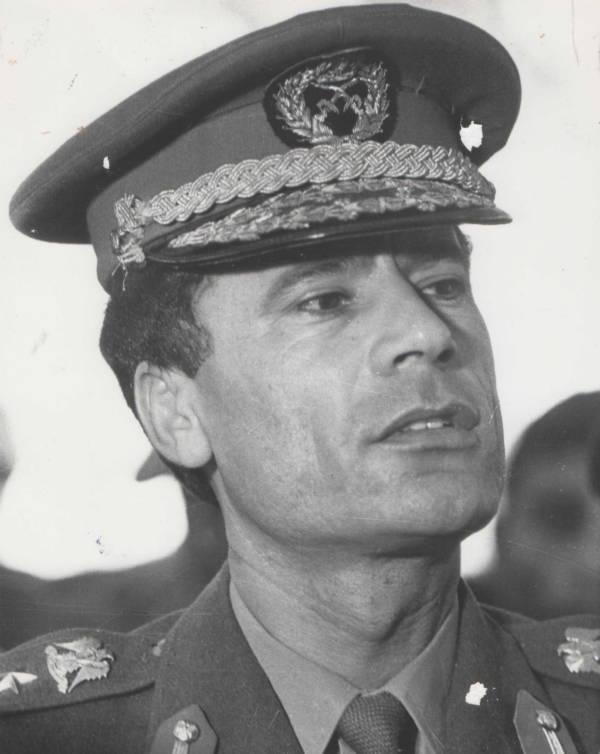 Muammar Gaddafi Young