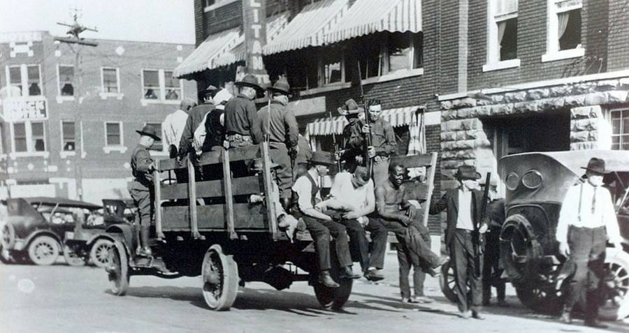 National Guard helping the wounded in the Tulsa race riot