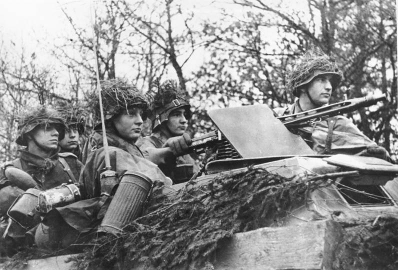 Nazis in an armored car