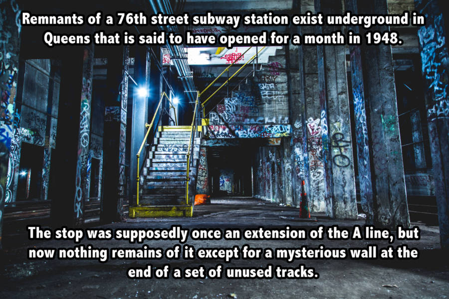 Abandoned 76th Street Subway Station