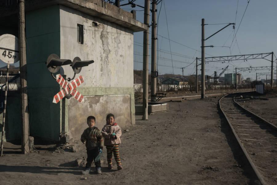 North Korea Children Rail