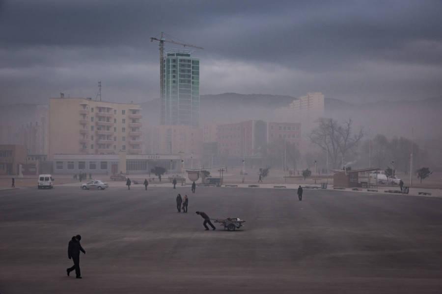 North Korea City Smog