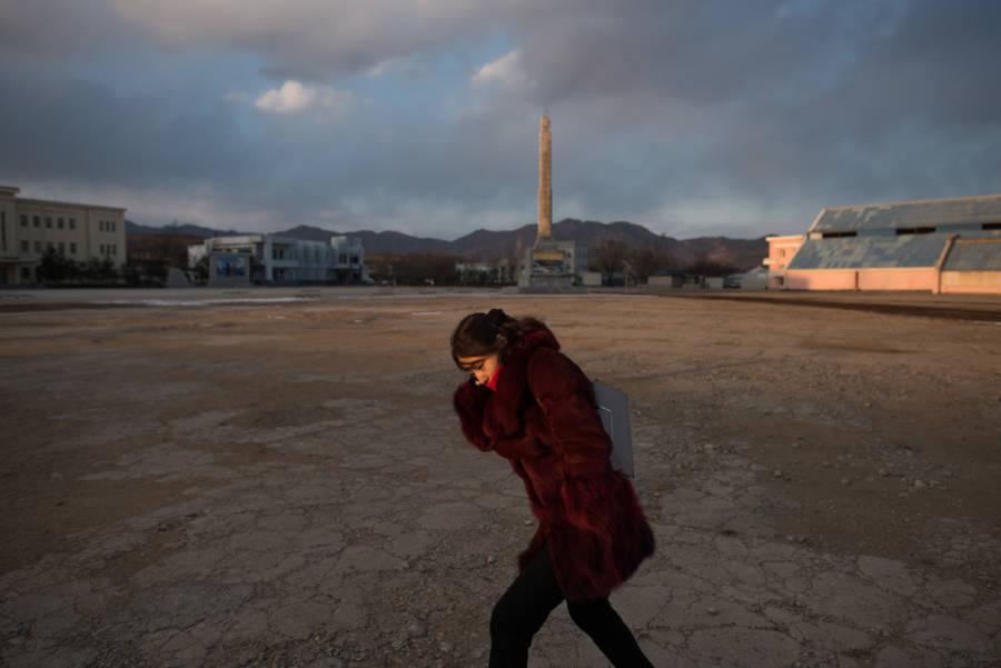 North Korea Woman Walk