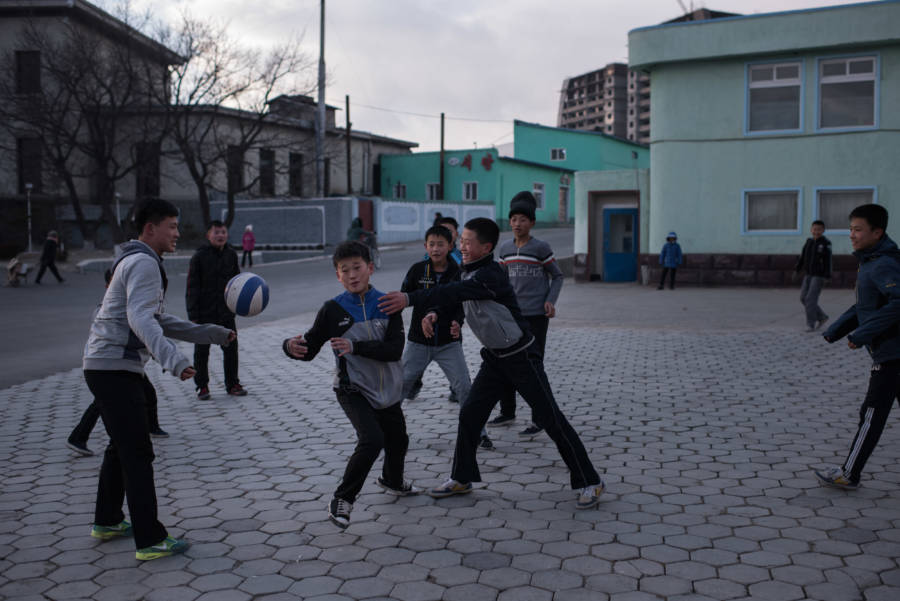 North Korean Children Soccer