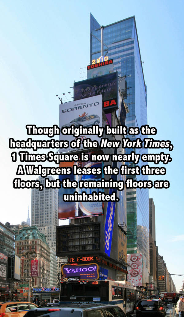 One Times Square New York Facts