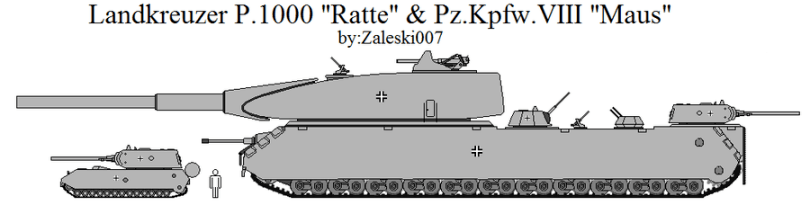 Landkreuzer P. 1000 Ratte Compared To Panzer VIII Maus