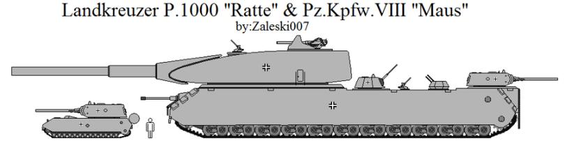 Landkreuzer P. 1000 Ratte Compared To Panzer VIII Maus