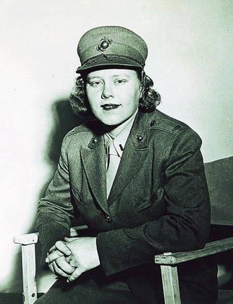 Patty Berg in her WWII Marine's uniform