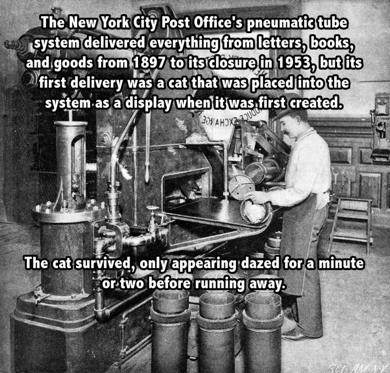 New York City Post Office's Pneumatic Tube