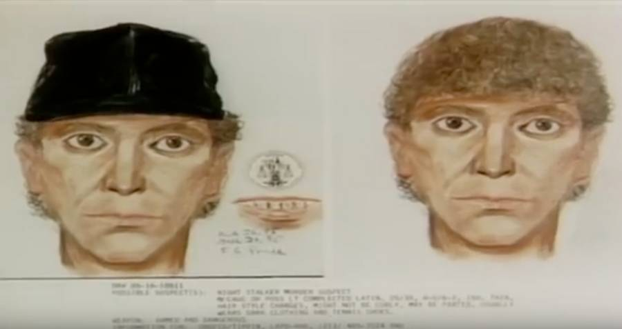 Police Sketch Of Richard Ramirez