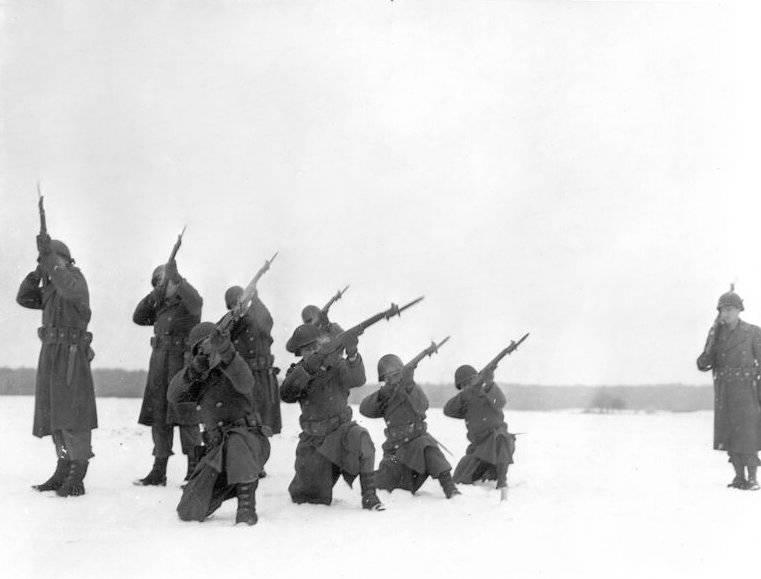 Rifle Squad Firing During World War 2