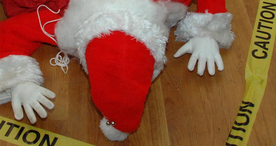 Santa Face Down