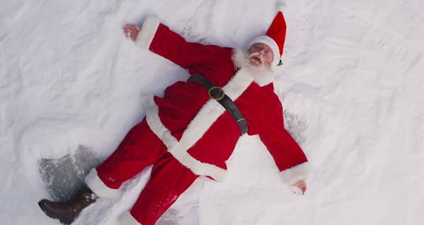Santa Lying Snow