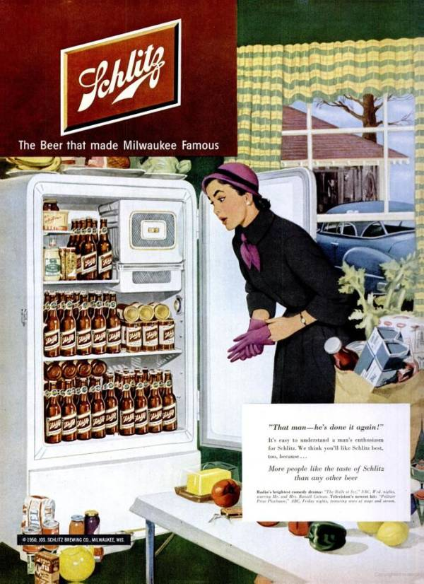 Schlitz Beer Fridge