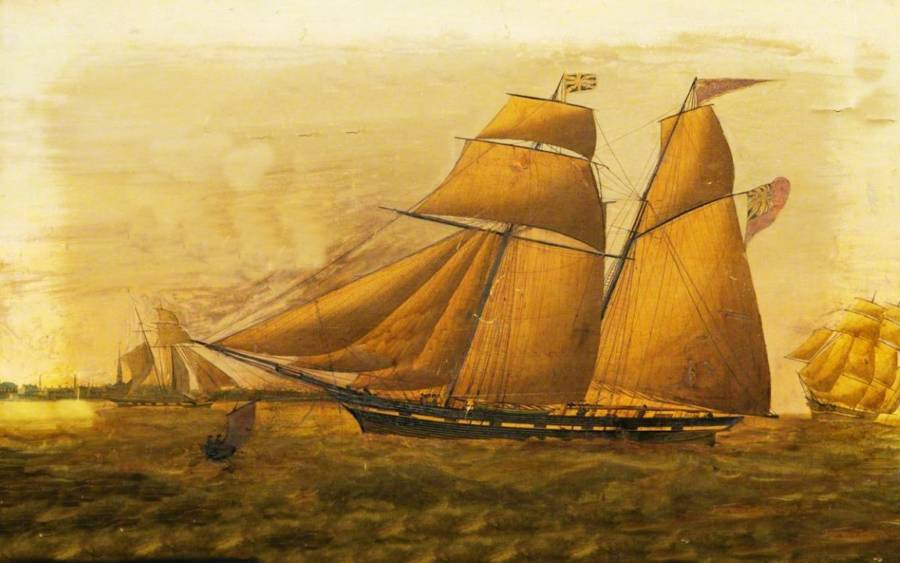 Painting of the Schooner Jenny