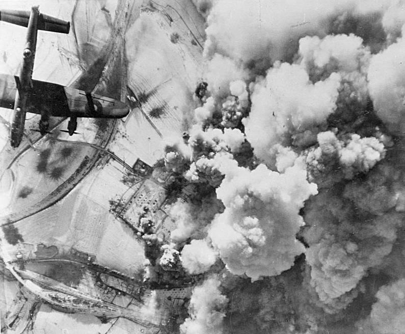 British Royal Air Force drops bombs