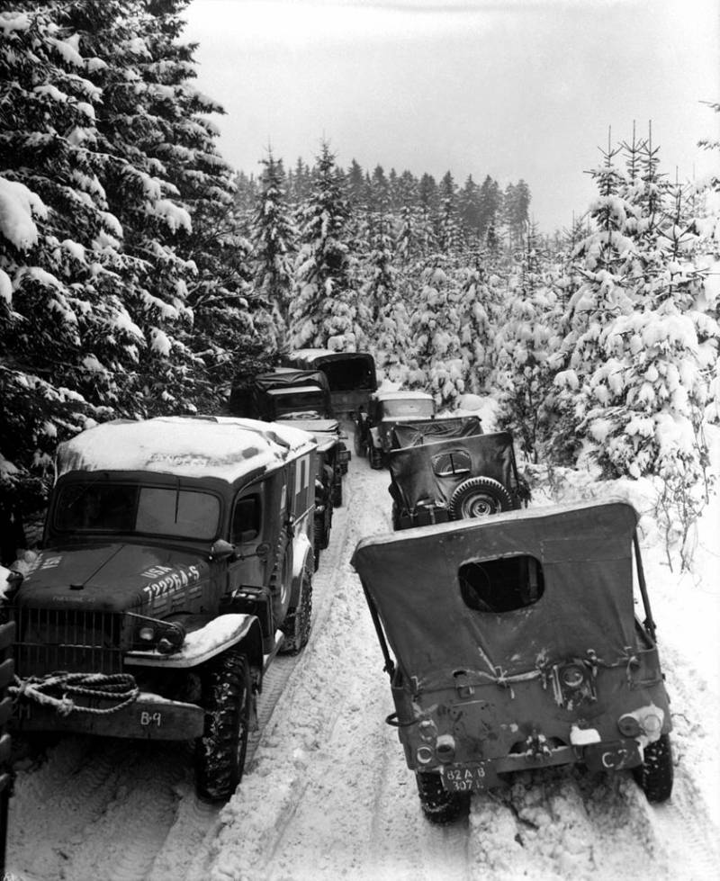 U.S. vehicles stuck in the snow