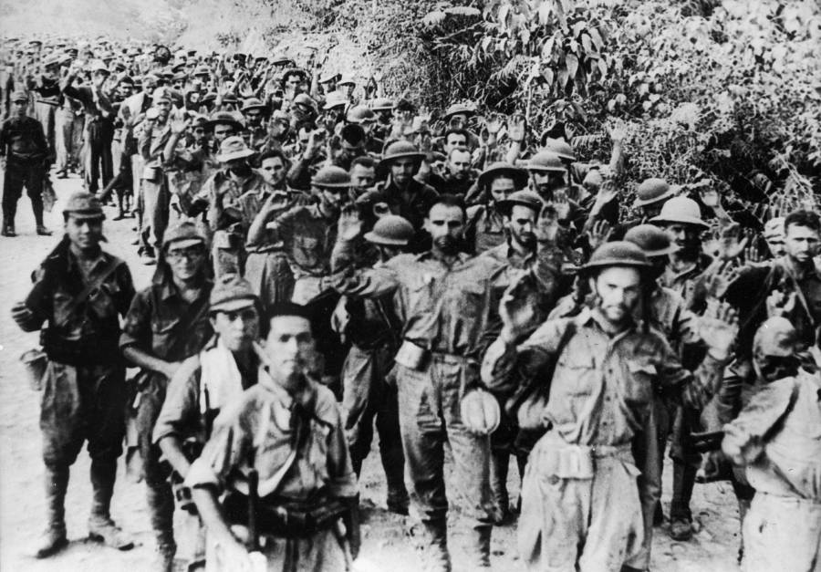 Bataan Death March Prisoners Marching