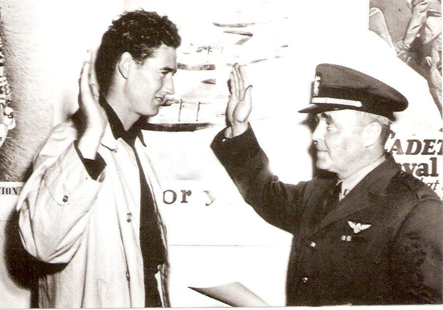 Ted Williams enlists in the navy