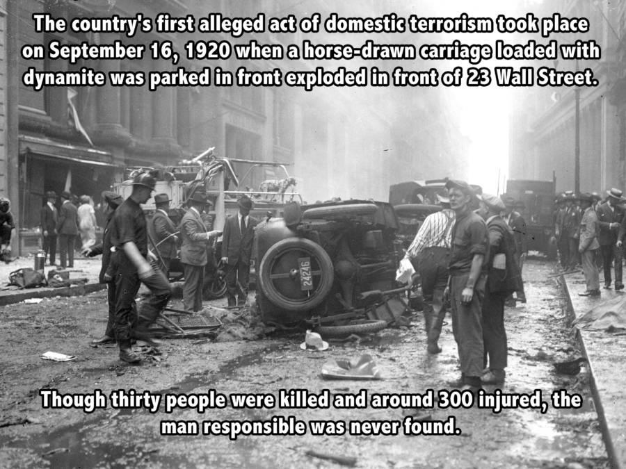Wall Street Bomb In 1920