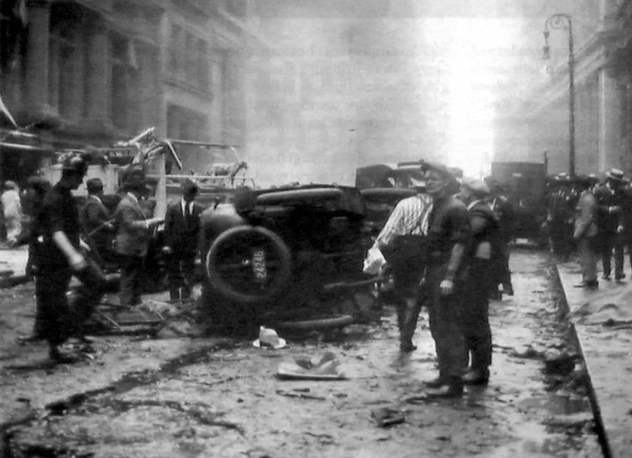 Wall Street Bombing Wreckage