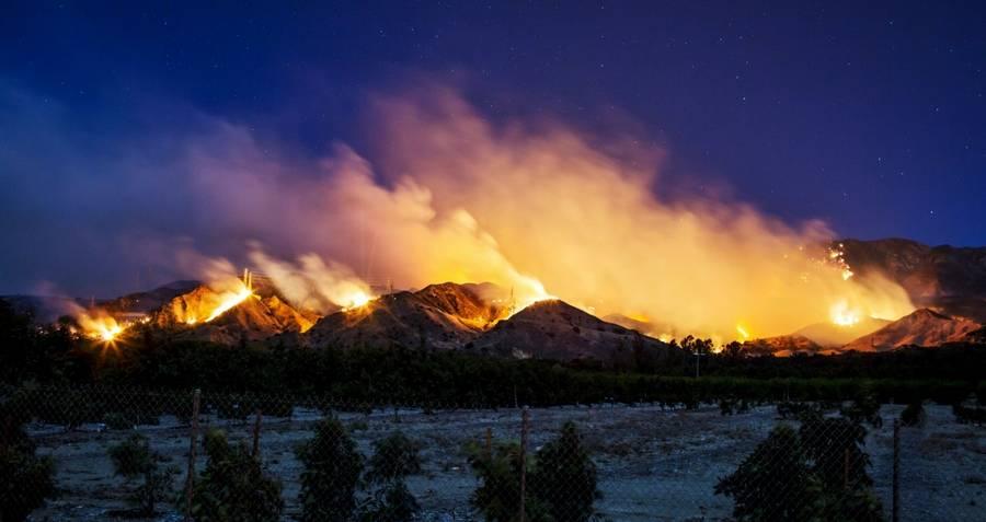 California Wildfires Burning