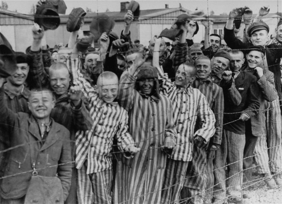 Liberated Dachau Prisoners