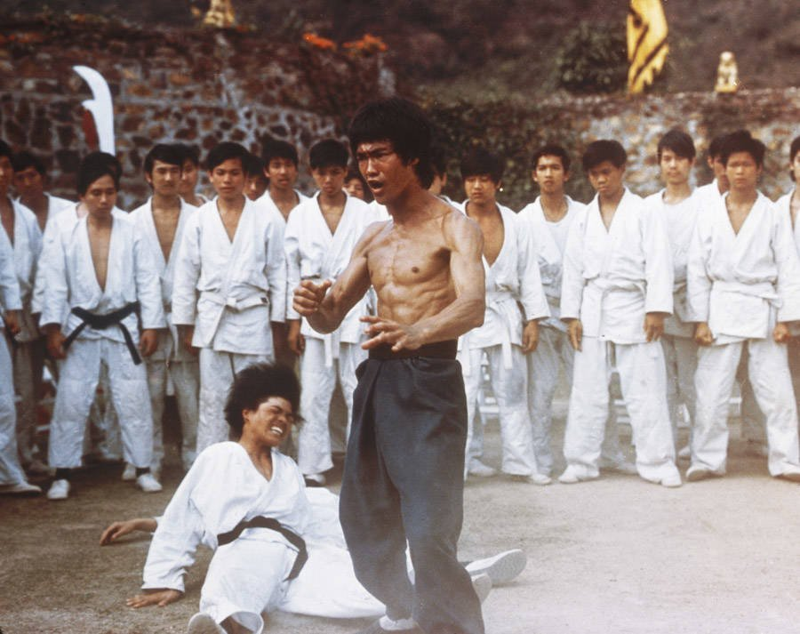 Bruce Lee fight scene from Enter the Dragon