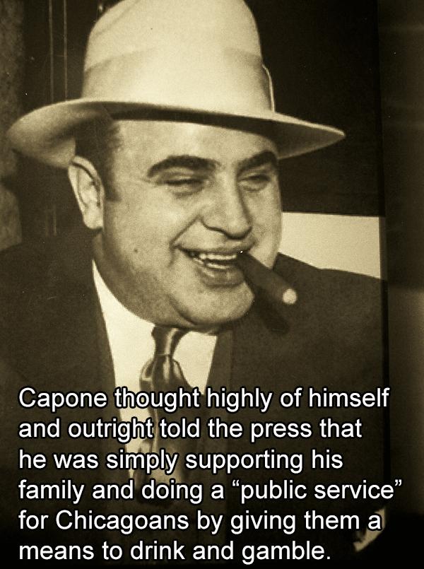 Al Capone Wearing A Hat